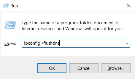 The Windows Command for flushing DNS