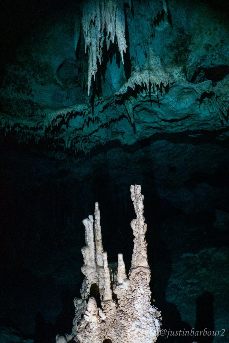 A close up of a cave  Description automatically generated