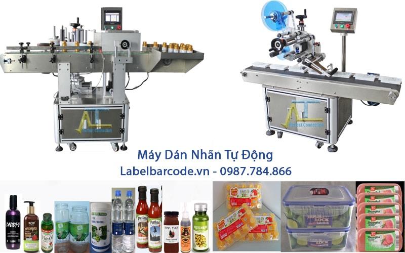 Máy dán nhãn tự động dán nhãn tất cả các sản phẩm phù hợp với hầu hết các lĩnh vực nghành nghề