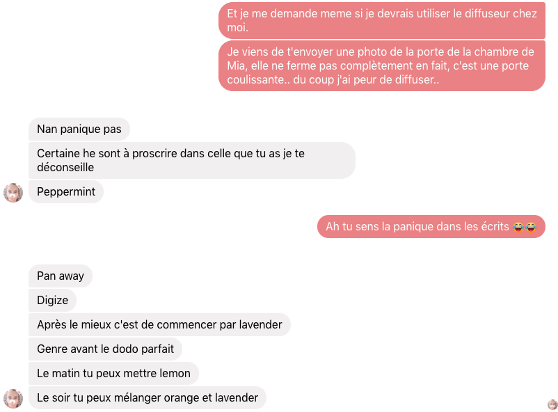 Discussion avec Nat, ma conseillère Young Living