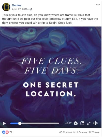 Mini game giải câu đố khó trên Facebook yêu cầu động não