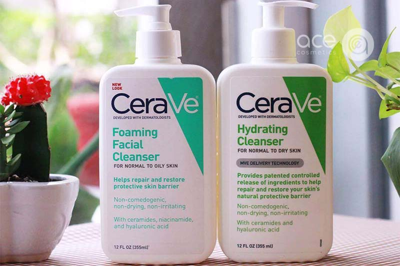 Sữa rửa mặt Cerave thích hợp hơn cả với da dầu, mụn và nhạy cảm
