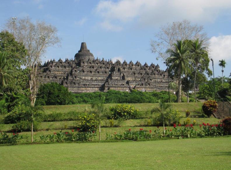 Historical Borobudur temple in Indonesia