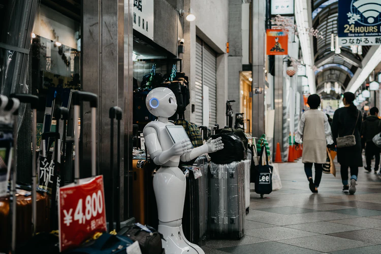 Social distancing is solved with the help of robots