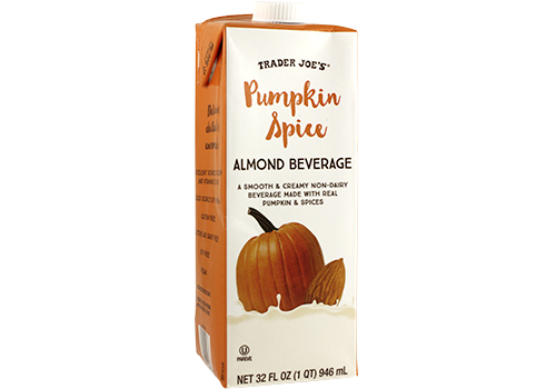 Container of Pumpkin Spice Almond Beverage