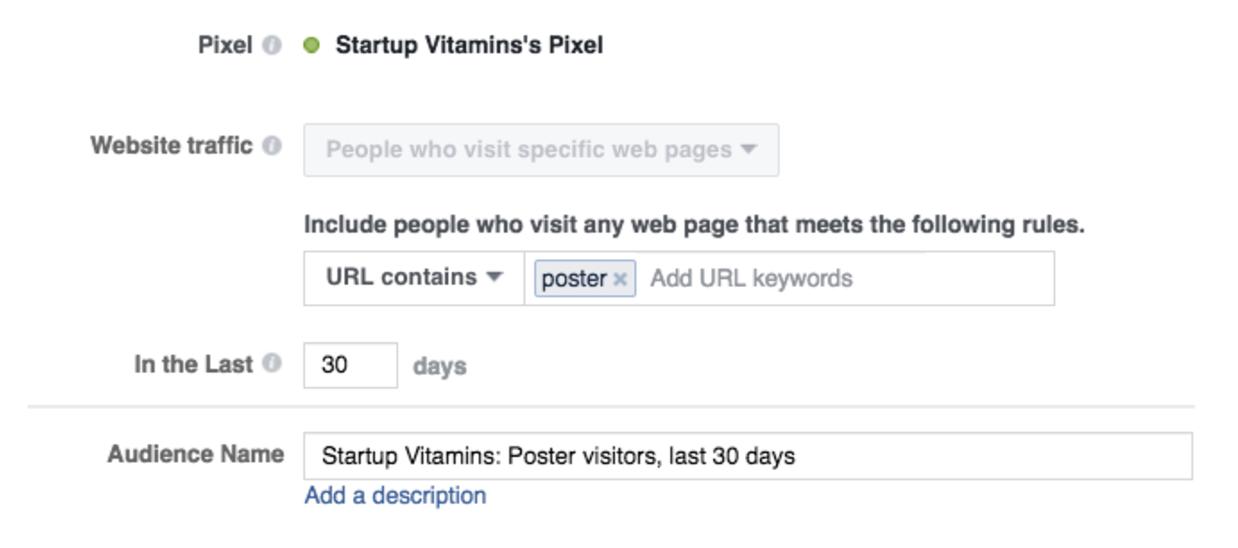 anuncio Startup Vitamins en Facebook