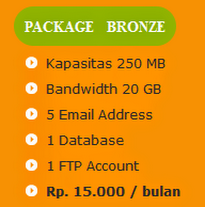 tarif paket hosting bronze anekahosting.com