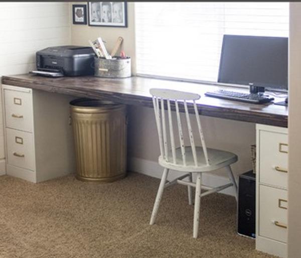 большой компьютерный стол своими руками
