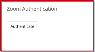 Authenticate button in Zoom