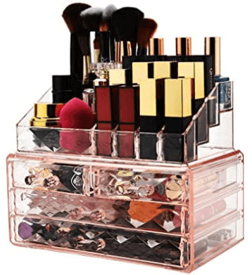 pinkd diamond makeup storage unit