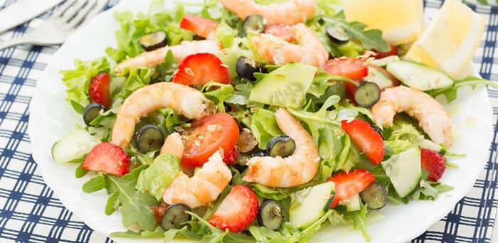 早午餐來份鮮蝦沙拉吧!補充慵懶假日所需的蛋白質。