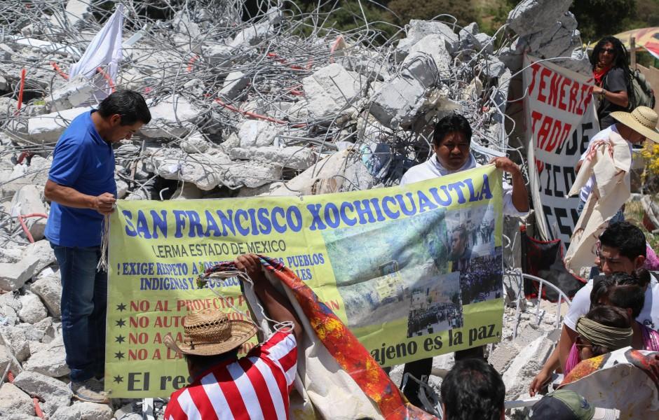 Hay un acuerdo para suspender las obras en Xochicuautla: habitantes