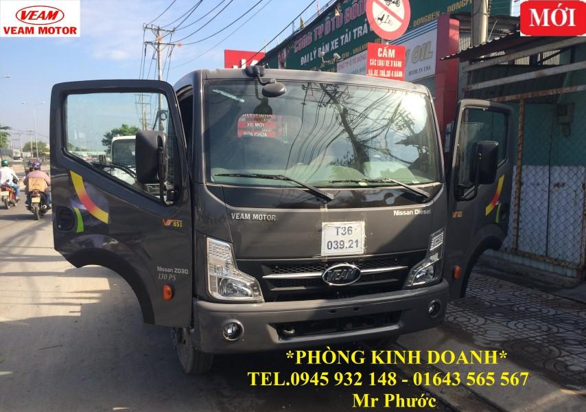xe tải VEAM 6.5 tấn, xe VEAM VT651 6.5t máy NISSAN, xe VEAM VT651 6T5