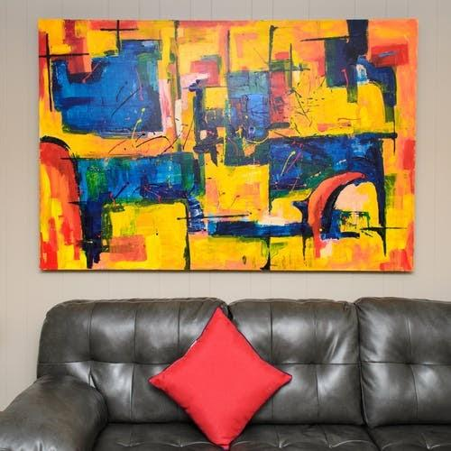 large art painting for decorating on the large wall