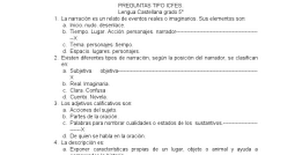 PREGUNTAS TIPO ICFES 4° y 5°.doc - Google Docs
