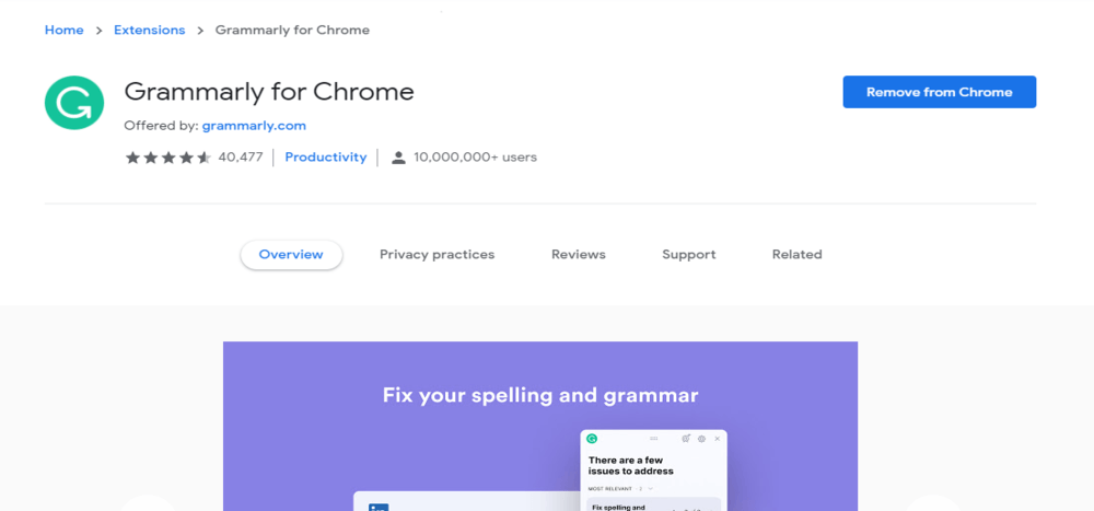 15 best free Google Chrome extensions for SEO by grammarly