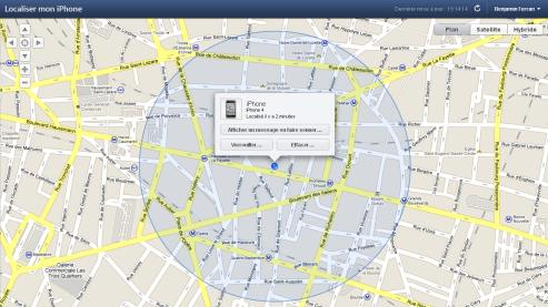 geolocalisation iphone