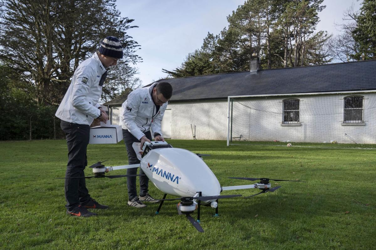 Medical drone delivery Manna Aero Ireland