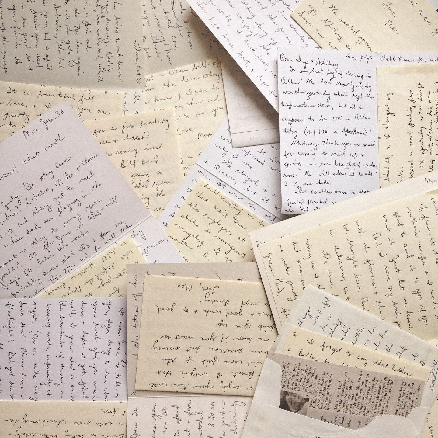 Collection of handwritten letters