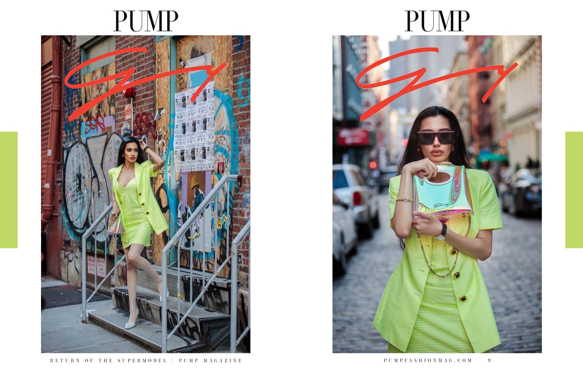 Tear sheet of Pump magazine featuring Farah Zulaikha shot by Tina Boyadjieva