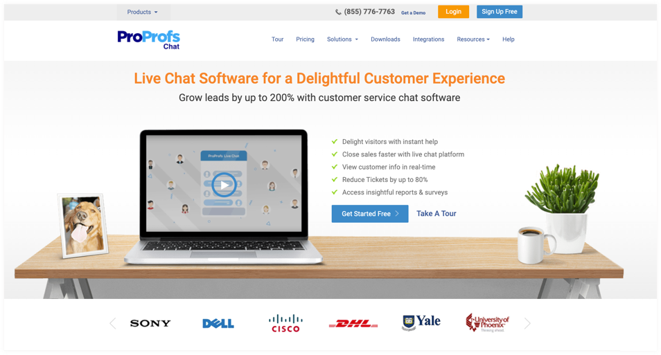 ProProfs Chat- Best live chat software