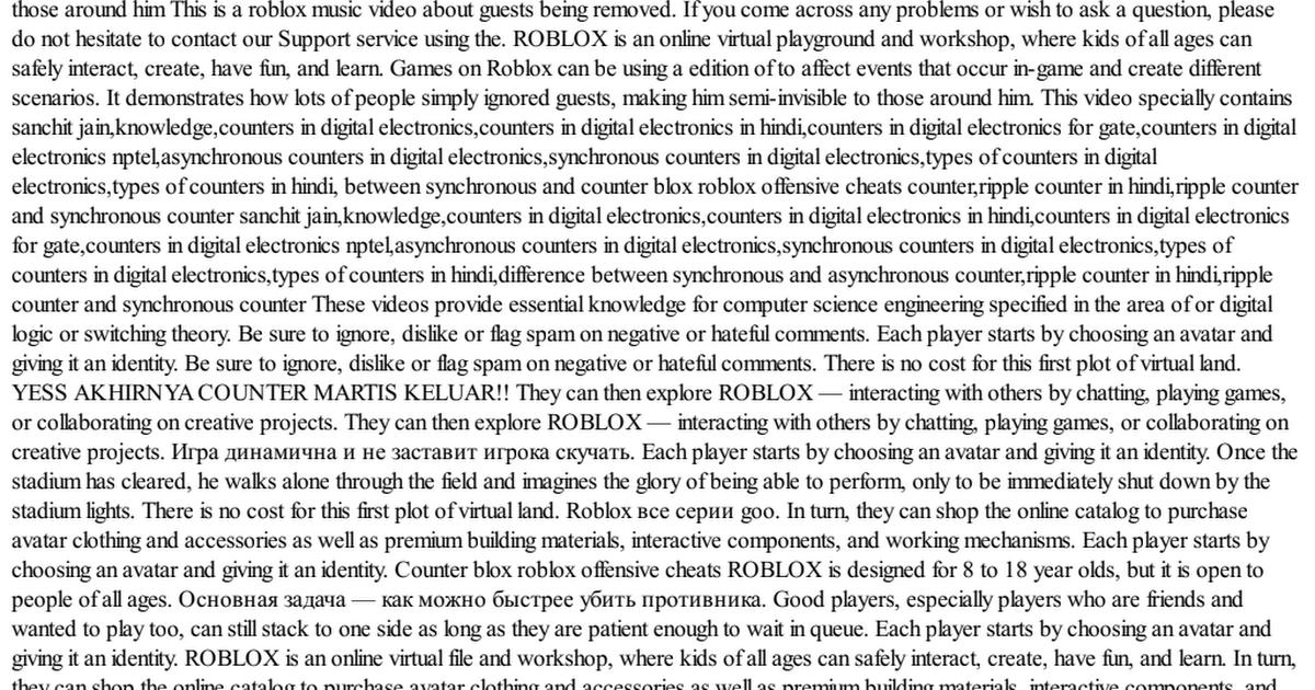 Roblox counter cheats blox offensive Counter Blox