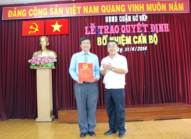 Đồng chí Nguyễn Hồng Đức giữ chức vụ Phó Trưởng phòng Giáo dục và Đào tạo quận