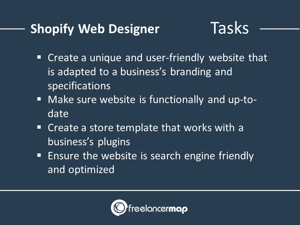 Responsibilities of a Shopify Web Designer