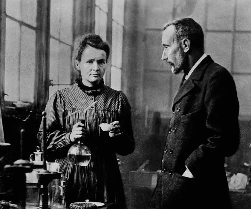 Marie Curie and Perrie Curie. Credit: Google Images