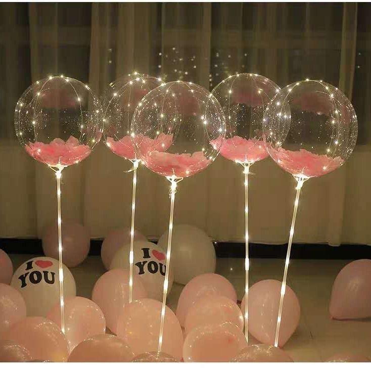 Decorative ornaments波波球生日装饰气球场景情人节布置套餐网红发光求婚浪漫表白派对DFGFH   Shopee Malaysia