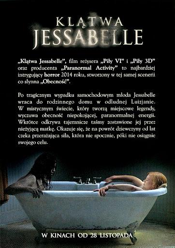 Tył ulotki filmu 'Klątwa Jesabelle'