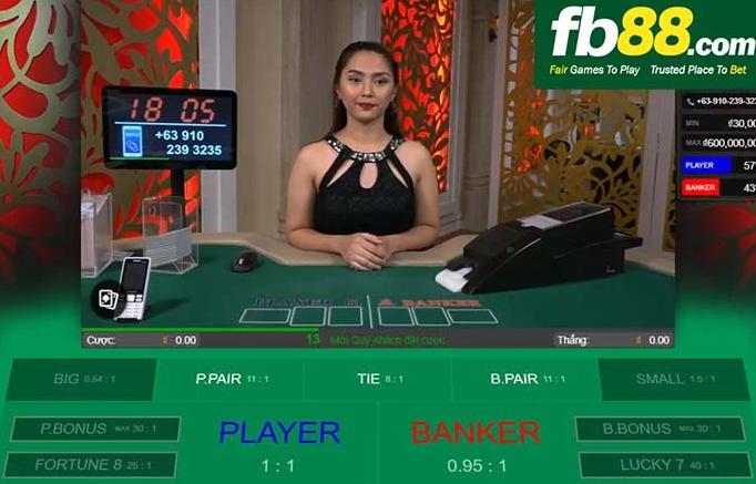 1.Chơi game Baccarat tại FB88