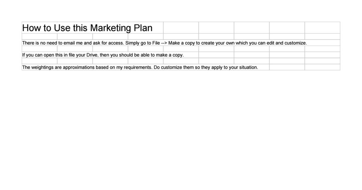 Fantastisch Monatliche Marketingplanvorlage Fotos ...