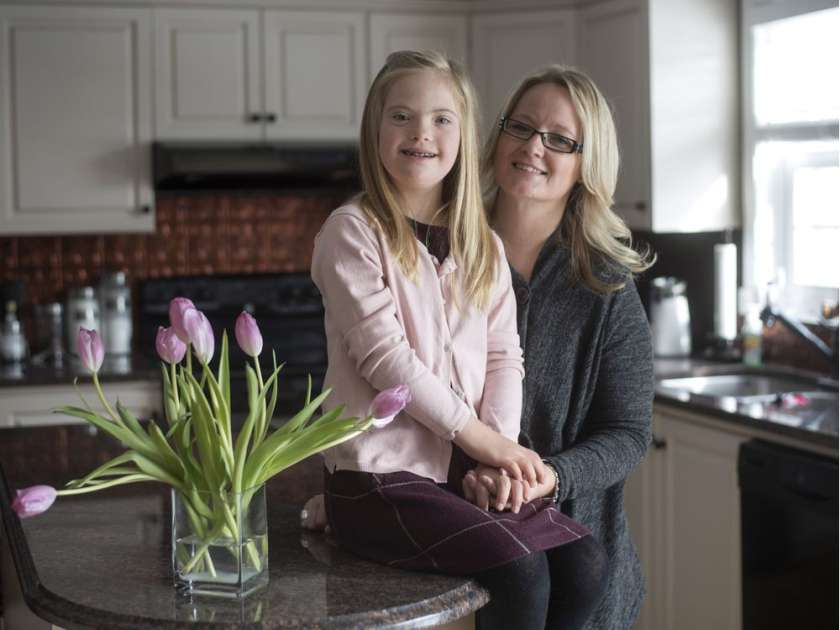 Sandra Wallace and her daughter Camryn, 10, are shown in their home in Carp, Ont. on Wednesday, Jan. 27, 2016. Electronic medical records have helped manage hospital appointments for Camryn, who was born with Down's Syndrome.