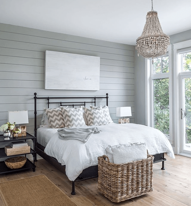 Shiplap Farmhouse Bedroom Ideas