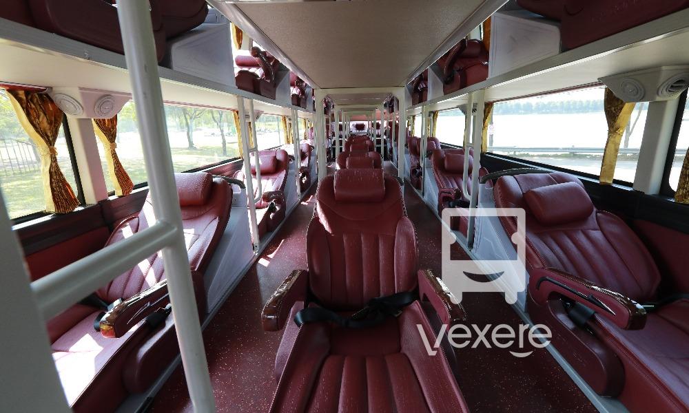 Nội thất xe Ngọc Ánh đi Bạc Liêu từ Sài Gòn