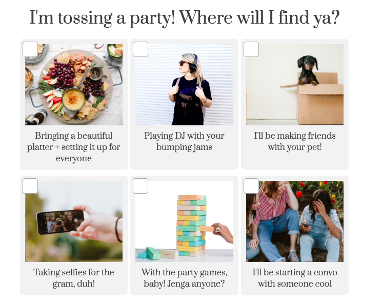 where will you be at a party quiz question with images
