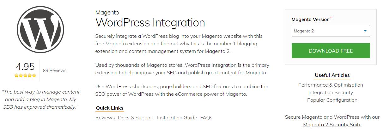 WordPress Integration by Fishpig