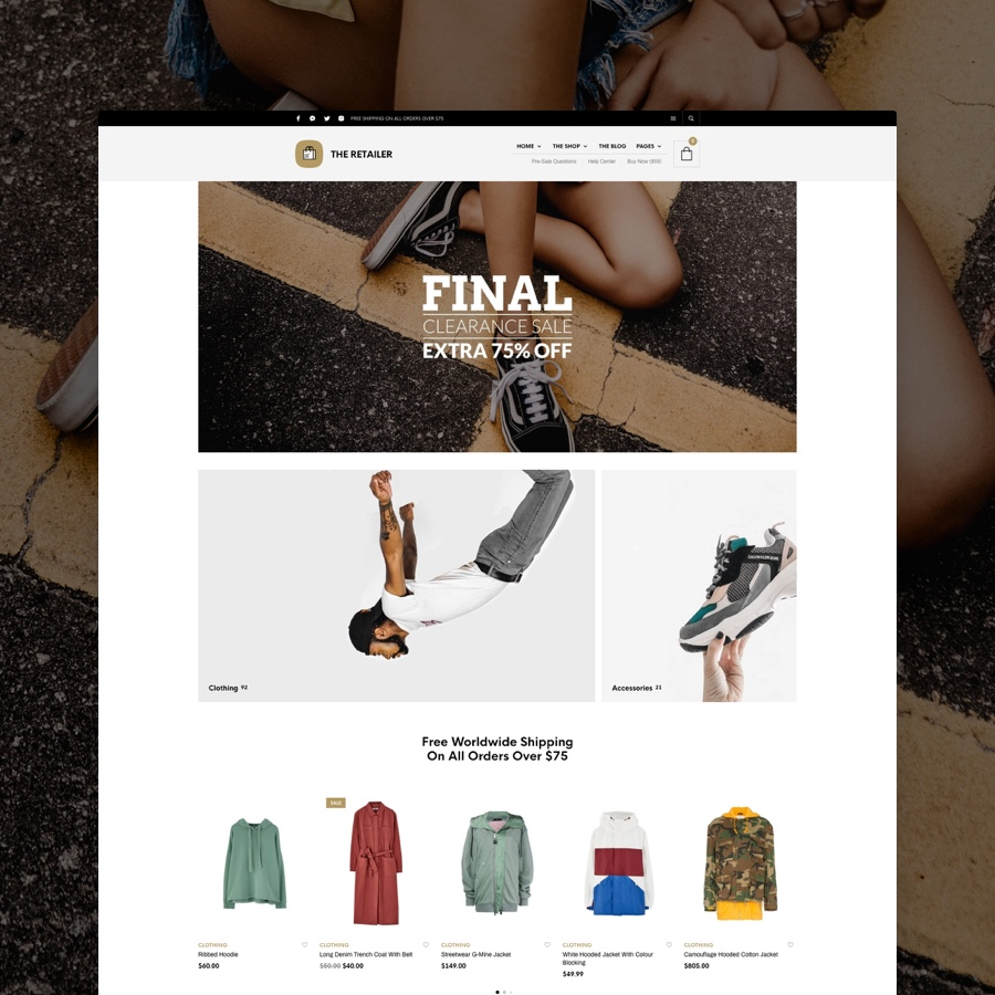 Responsive woocommerce theme the retailer