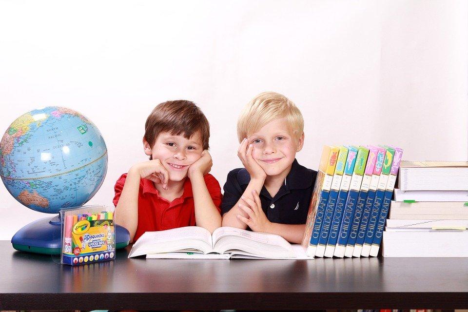 Boys, Kids, Children, Happy, Sitting, Students