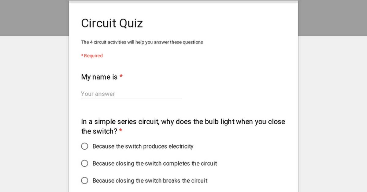 Circuit Quiz
