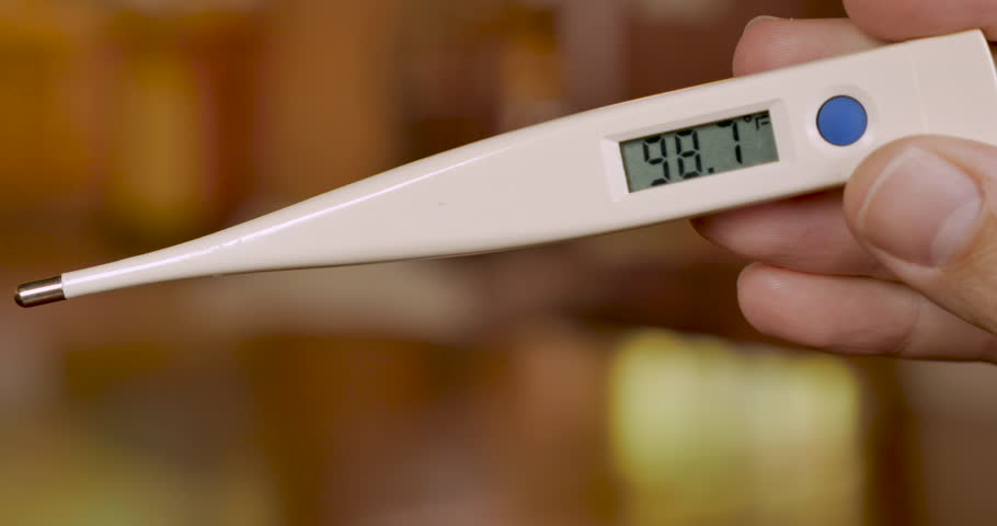 how does a digital thermometer works without mercury