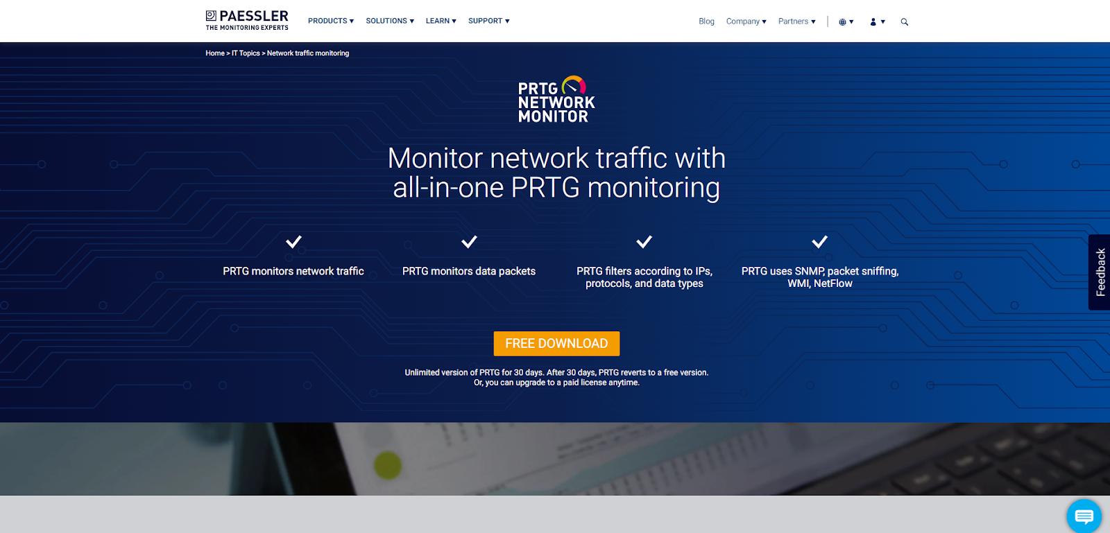 Network Flow Analyzer - Paessler network monitor