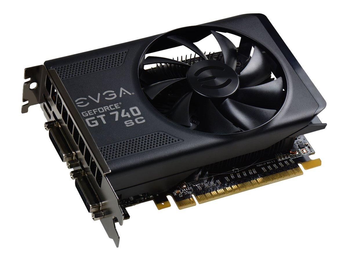 EVGA GeForce GT 740 2GB Super Clocked GDDR5 128-Bit Dual DVI mHDMI Graphics Card