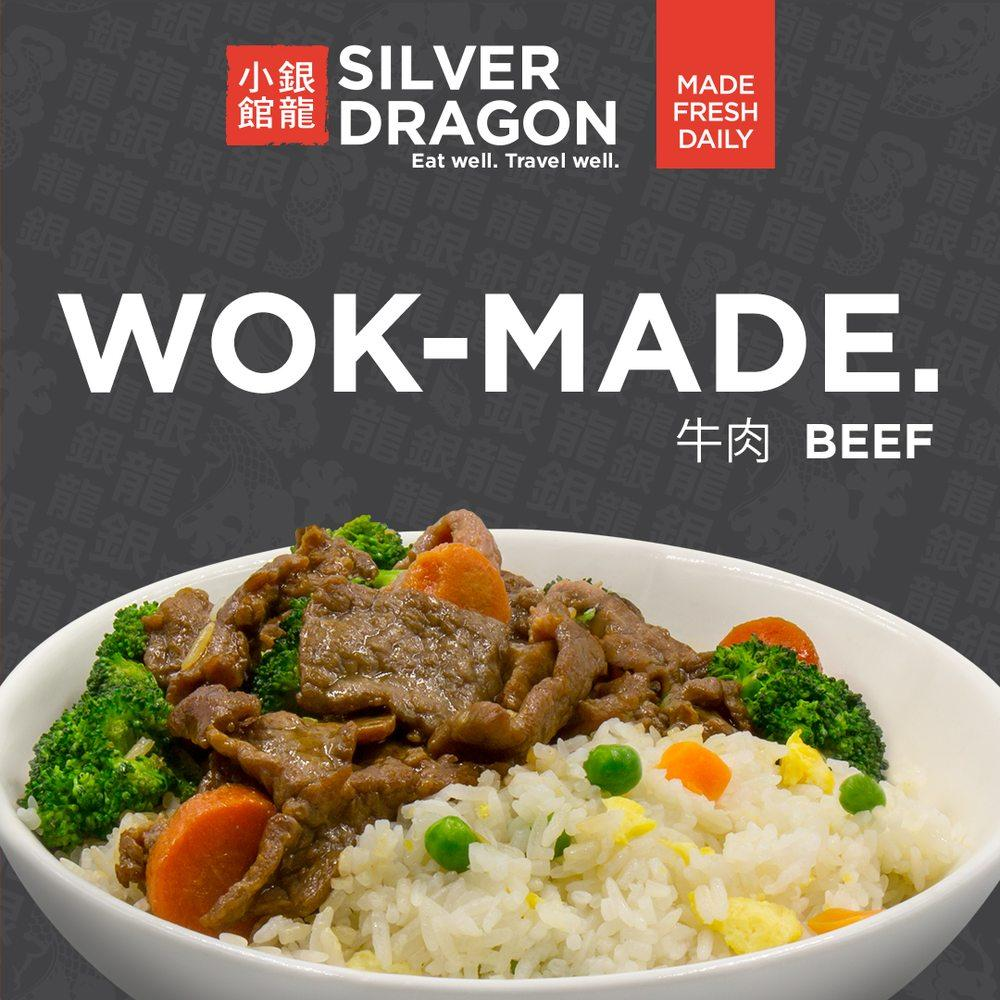 Photo of Silver Dragon Cafe - Oakland, CA, United States. Our Broccoli Beef Dragon Bowl goes from Wok to Bowl. A proper hot meal served fresh to you at Gate 7 in Terminal 1 at the Oakland Airport.