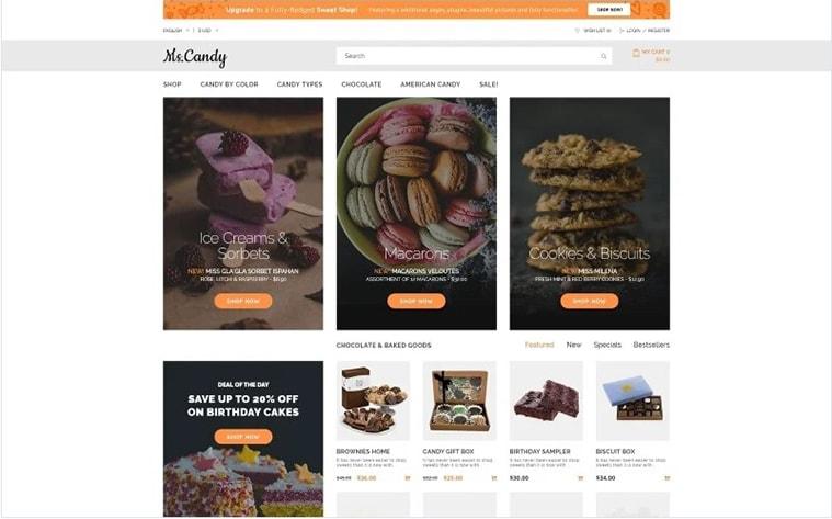 лучший бесплатный шаблон темы ботстрапа сайт красоты сладости пекарня кондитерская