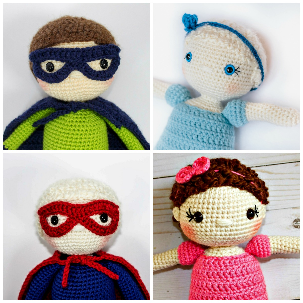 Loomigurumi Izzy Bizzy Doll - Long hair with braid - hook only ... | 1200x1200