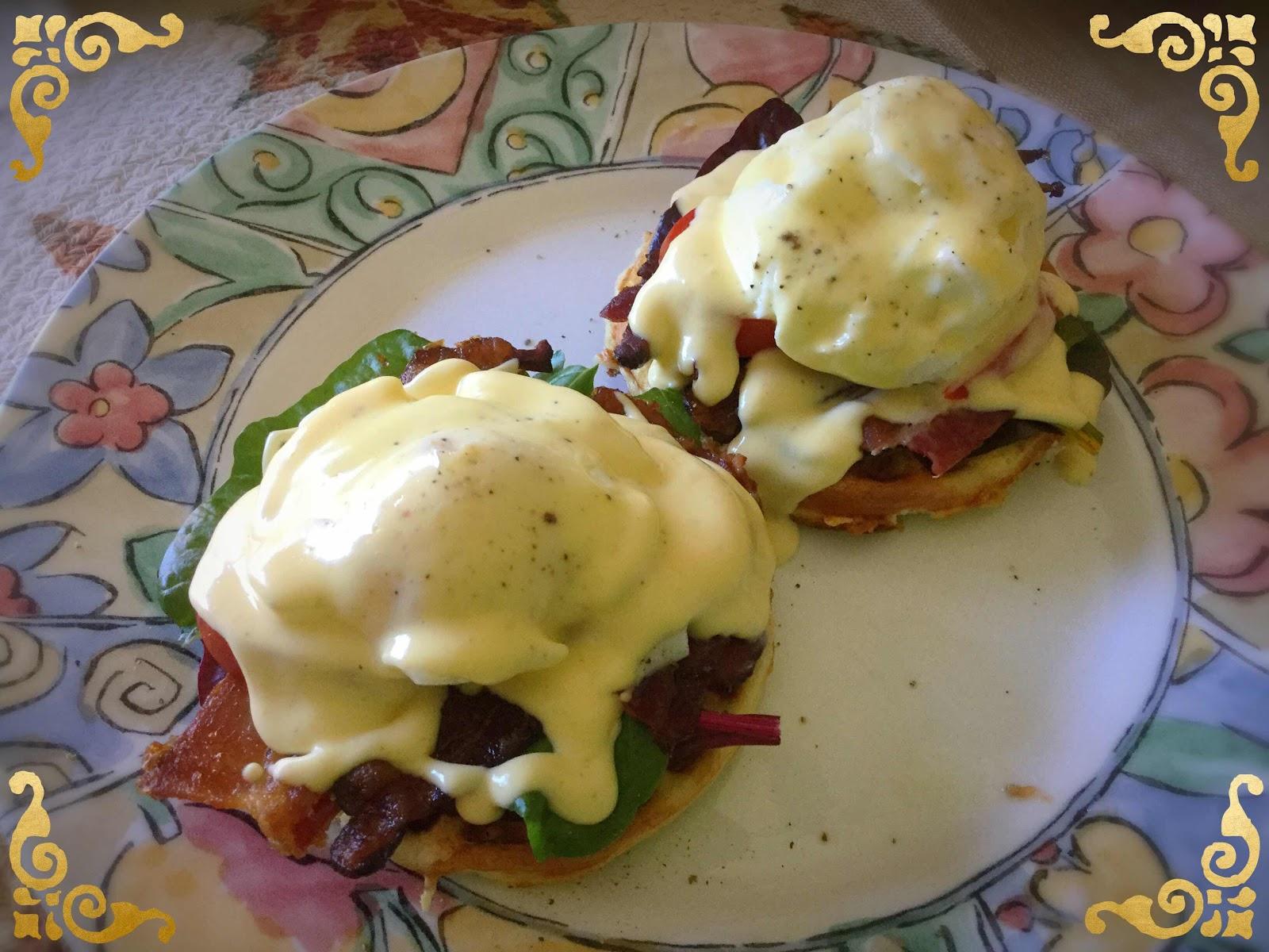 Egg Benedict Chaffles