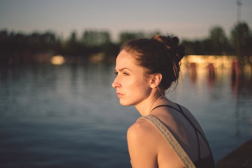 Woman Facing Sideways in Shallow Photo