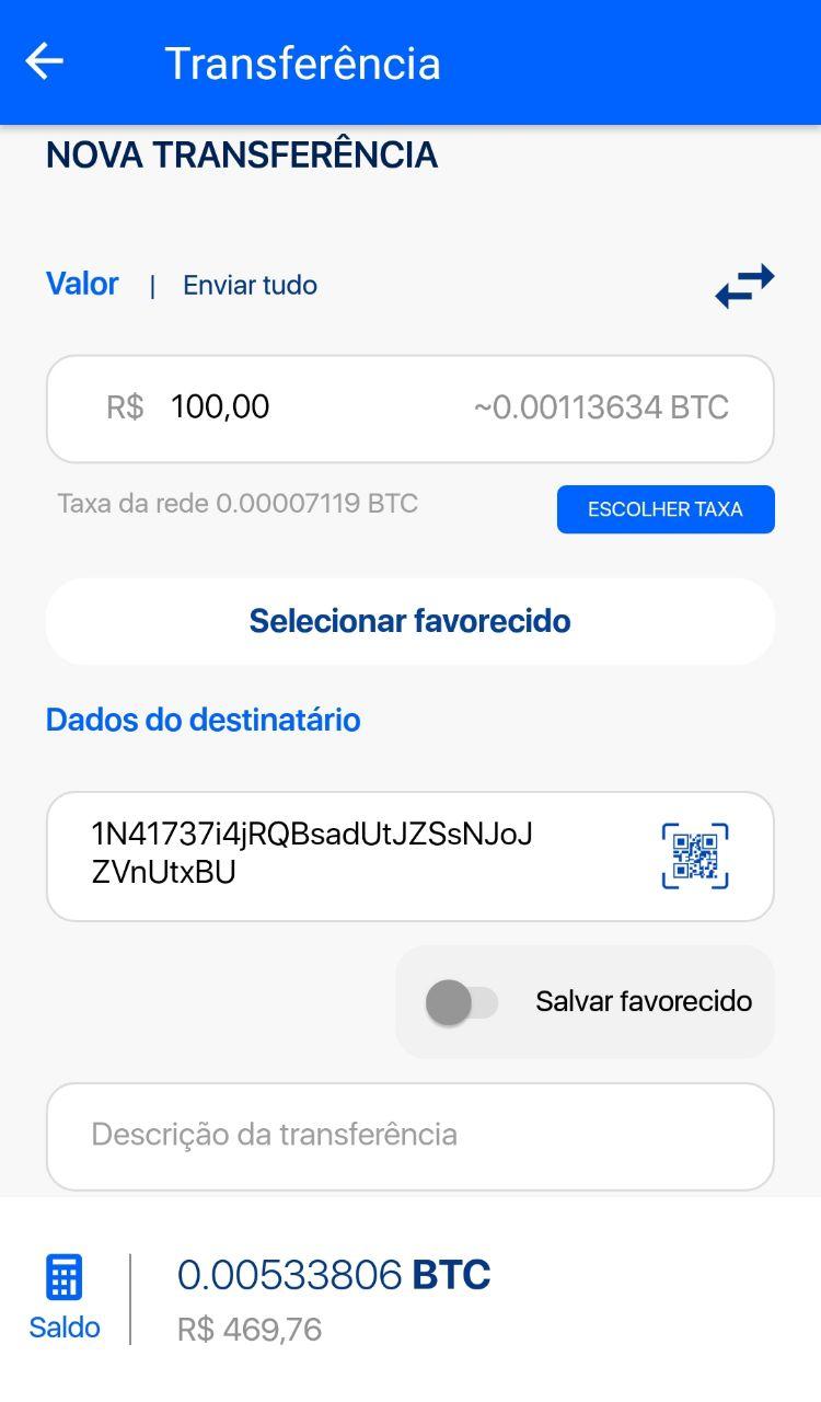transferência de bitcoins para um amigo